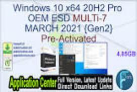 Windows 10 Home Pro X64 OEM ESD MULTi-7 JAN 2020 {Gen2}